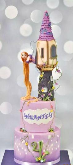 Rapunzel/Tangled Cake