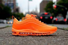Nike Air Max 97 Hyperfuse Highlighter Orange available now via Kicks LA Orange Sneakers, Orange Shoes, Best Sneakers, Sneakers Fashion, Sneakers Nike, Ladies Sneakers, Orange Orange, Burnt Orange, Slippers
