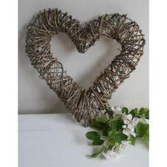 Twig Heart, Natural Brown Colour Perfect for Wedding Photos! Home Decor, Wedding Decor, Garden Accessory www.prettymaison.co.uk 01353 665141