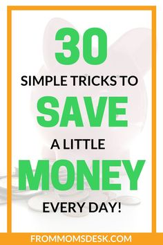 This amazing list will help you save money every single day! It's all about the little steps to frugal living that make a big change to your bank account. via @keciahambrick