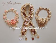 Silvia Gramani Crochê: Colares e Cordão com Flores de Crochê