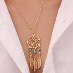 Cheap necklace jewelry, Buy Quality fashion jewelry directly from China jewelry fashion Suppliers: 2016 Best Deal Fashion Retro Women Tassels Feather Pendant Necklace Jewelry Bohemia Dream Catcher Pendant Chain Necklace Gift Lotus Necklace, Dream Catcher Necklace, Boho Necklace, Boho Jewelry, Pendant Jewelry, Jewelry Necklaces, Fashion Jewelry, Pendant Necklace, Dream Catchers