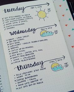 Plan and organize your entire day or week with these easy and creative bullet journal ideas. Use these bullet journal hacks as inspiration for your bujo! Planner Bullet Journal, How To Bullet Journal, Bullet Journal Inspo, My Journal, Journal Pages, Daily Journal, Bullet Journal Homework, Bullet Journal Layout Ideas, Bullet Journal Weekly Spread Layout
