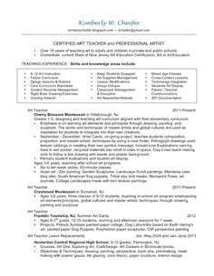 art ceramic teacher resume resume