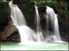 Mag-aso Falls located at Antequera, Bohol, Philippines