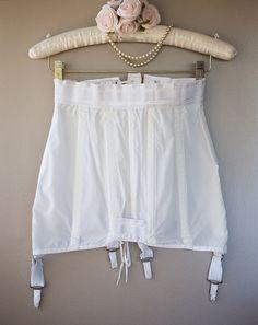 Authentic 'Gossard' vintage firm control lace up OB Girdle - silky noisy nylon and elastane open bottom girdle Strumpfgürtel. Gossard, Girdles, Corsets, Off Shoulder Blouse, 1960s, White Shorts, Thighs, Lace Up, Womens Fashion