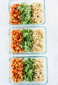 Spicy Chickpea Quinoa Bowls (Meal Prep) - Eat Yourself Skinny