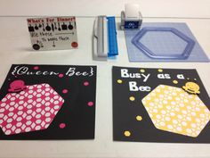 Special Make & Takes using our new Hexagon Custom Cutting System Template and Hexagon Border Maker Cartridge!