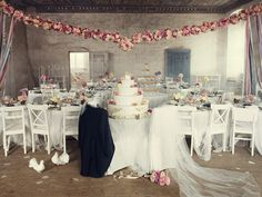 shabby chic wedding reception | Wedding Decor: Petite Desserts + Shabby Chic Details