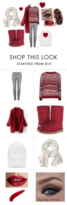 """""""Red rose outfit  🌹"""" by queen-m1m ❤ liked on Polyvore featuring Dorothy Perkins, UGG Australia, PB 0110, Wrap and TheBalm"""
