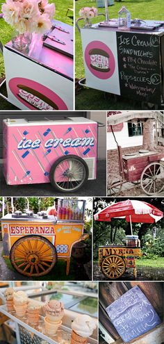 ice cream cart at wedding. I need to find one of these!
