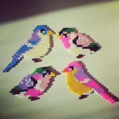 Birds hama perler beads by saretawasumaku by maria beatriz