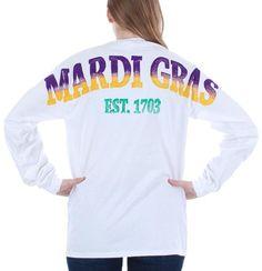Mardi Gras Costume Stadium Jersey Shirt White Medium