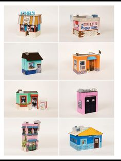 These gorgeous buildings made from cardboard are by Los Angeles-based Ana Serrano. Find the article in Frankie magazine, May/June  2014.
