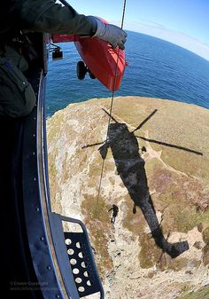 Royal Navy Search and Rescue Helicopter Aircrewman by Defence Images, via Flickr
