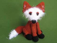 Fox Amigurumi Woodland Animal Toy Crochet Pattern by Millionbells