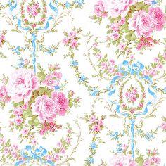 Cotton Bedding Clothwork Vintage Rose Damask Candy Pink