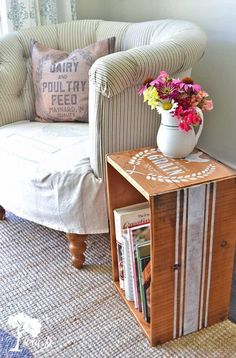 Old wooden crates can be repurposed for home decor or organization. Great tips to enjoy the vintage character all around your home. (Plus how to make them look their best)