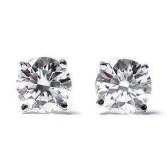 0 50 Ct Round Cut 14k White Gold Diamond Stud Earrings | eBay