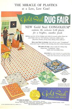 https://flic.kr/p/xHuw2 | The Miracles of Plastics! | Gold Seal Congoleum flooring ad, 1950s