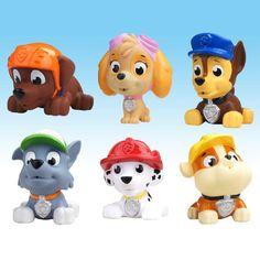AUTOPS צעצועי אנימה סיירת 6 יח'\חבילה אמבט צעצוע כלב כלב רוסית צעצועי Canina Patrulla סיירת גור צעצוע ילד ילד מתנה