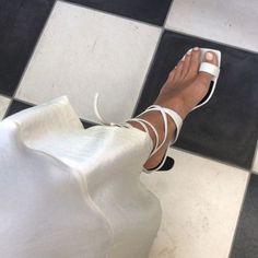 white sandals for summer