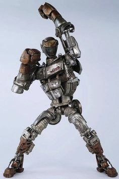 'Noisy Boy' produced by ThreeA (3A). The four Real Steel production figure released and is full of LED lights ... #robot