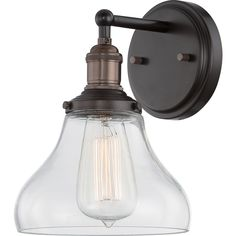 """Nuvo Vintage 1-Light 7"""" Wall Sconce"""