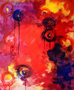 Garden of Good and Evil Abstract Painting by Nancy Merkle; Original Paintings and Fine Art Reproduction Prints and Posters