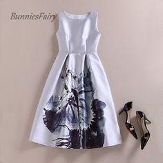 Floral Print Vest Dress