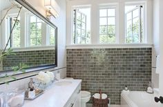 high window bathroom solution
