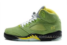 http://www.nbajordan.com/air-jordan-5-retro-suede-green-yellow-black-discount.html AIR JORDAN 5 RETRO SUEDE GREEN YELLOW BLACK DISCOUNT Only $88.00 , Free Shipping!