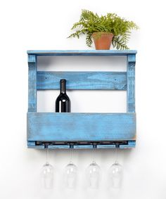 Look at this Blue Wine Rack on #zulily today!