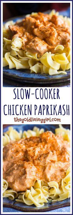 Slow-Cooker Chicken Paprikash pin