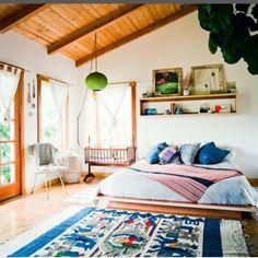 Tall ceilings floor bed