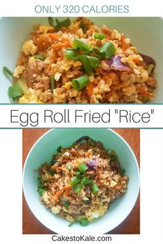 Egg Roll Fried Rice.  This healthy dinner recipes will have you feeling full and satisfied.