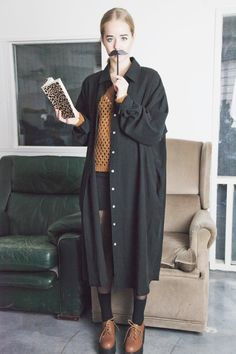 Unique Oversized Shirt Dress http://www.thewhitepepper.com/collections/new-in/products/black-shirt-style-long-dress Beehive Knitted Jumper http://www.thewhitepepper.com/collections/new-in/products/beehive-knitted-brown-jumper Unbalance Mini Skirt http://www.thewhitepepper.com/collections/new-in/products/unbalance-mini-skirt Chunky Heel Brogues http://www.thewhitepepper.com/collections/shoes/products/chunky-heel-brogues-1