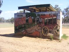 And the front of the public loos of Mungallala