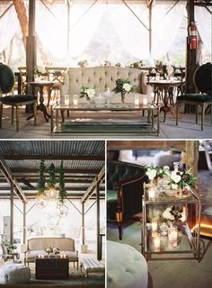 This is what happens when California meets the rustic wedding trend, muted, cool and coastal. For more on this wedding and the venue, visit The Venue Report.