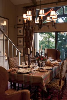 Scottish Gamekeeper's dinner party from Kathryn Greeley's The Collected Room