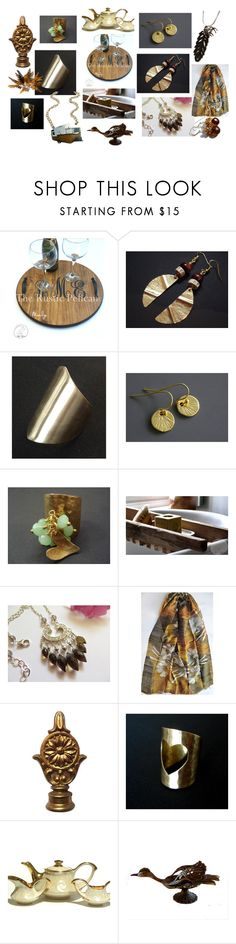 """Prettiest on Etsy"" by anna-recycle ❤ liked on Polyvore featuring modern, rustic and vintage"