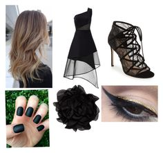 """""""A beautiful night"""" by stowies74 on Polyvore featuring David Koma, Pour La Victoire, Mehron and Lanvin"""