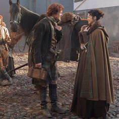 We didn't have these on the site, so we decided to post them all in a big batch. Here are all the behind the scene pics of the cast on the set of Outlander.  More after the jump! - Source& ...