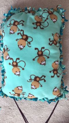 DIY Monkey Pillow Love it! checkout www.sweetpeadeals.com for more baby clothes and Items up to 80% OFF!