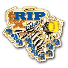 RIP Fastpitch softball trading pin by pinpros.com