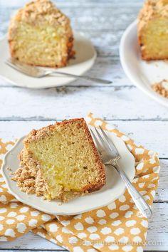 Meyer Lemon Coffee Cake with Almond Streusel