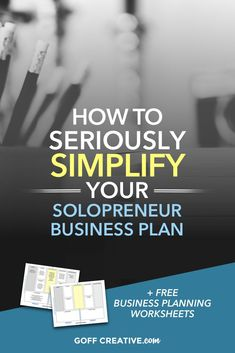 You need a plan. But it doesn't have to be some complicated hulabaloo that you never refer to because it's just insanely robust. Instead, here's a simple solution you can create before you finish reading. Click through to get started, plus grab your 1-page business plan worksheet, free!