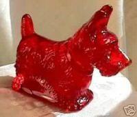 Mosser ruby red glass Scottish Terrier