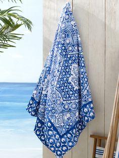 Textured Mosaic Beach Towel - Beach Towels  Bath Shop - RalphLauren.com
