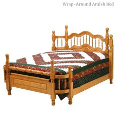 Wrap-Around Amish Bed Rustic Bedroom Furniture, Contemporary Bedroom Furniture, Amish Furniture, Furniture Movers, Solid Wood Furniture, Classic Furniture, Furniture Styles, Fine Furniture, Bed Price